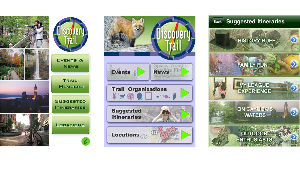 Discovery Trail App Design