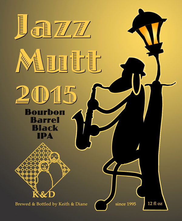 Jazz Mutt 2015 Beer Label