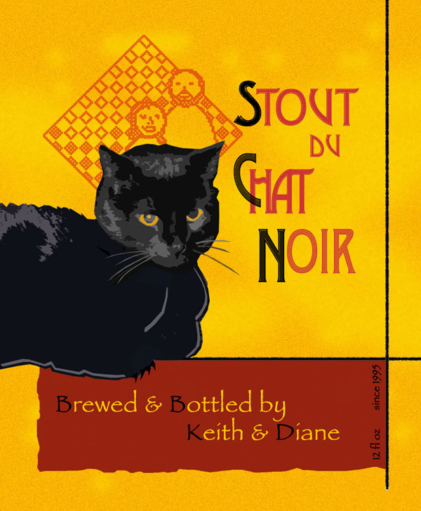 Stout du Chat Noir Beer Label