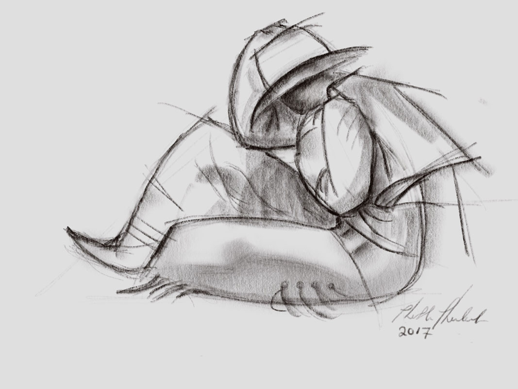 Cowboy in Wind