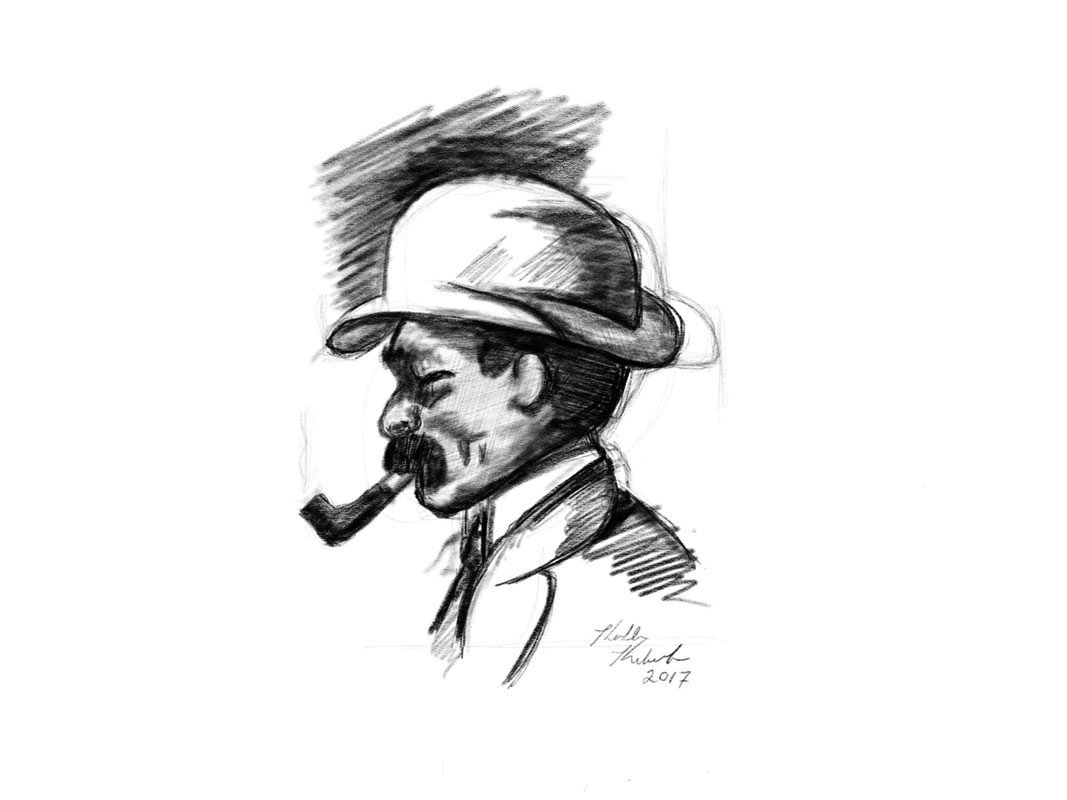 man with hat and pipe