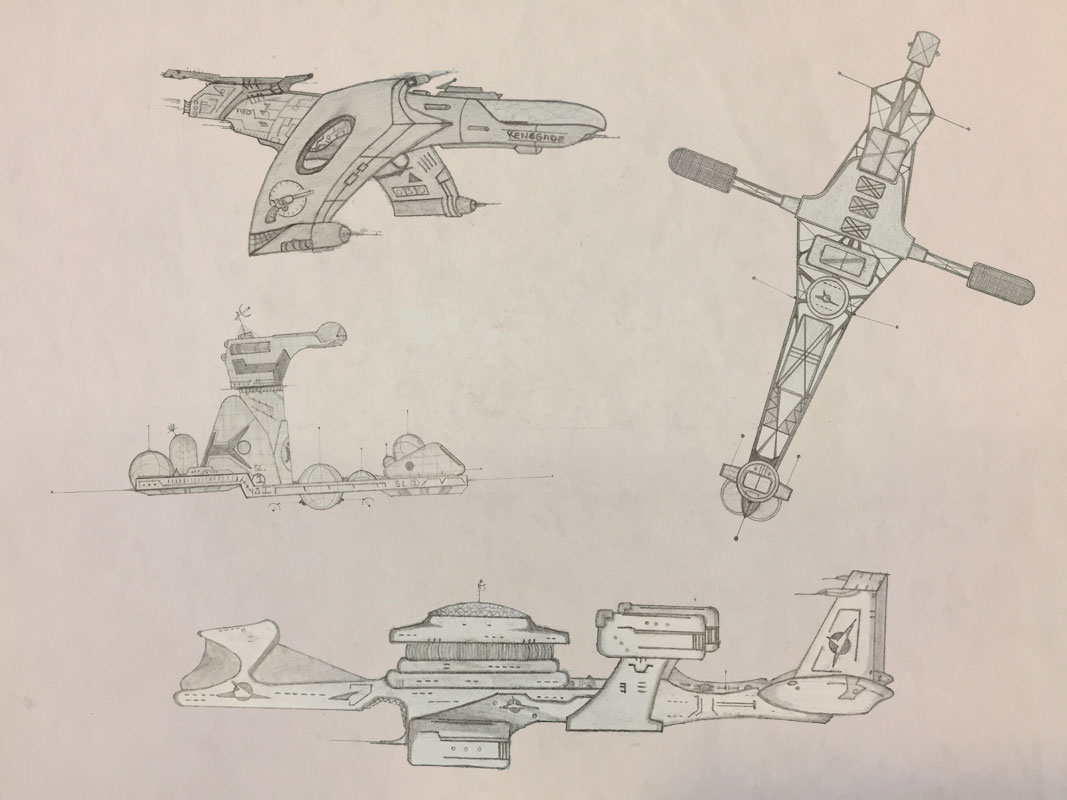 Spaceship Collage