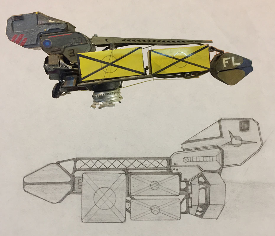 Space Ship and Model #2