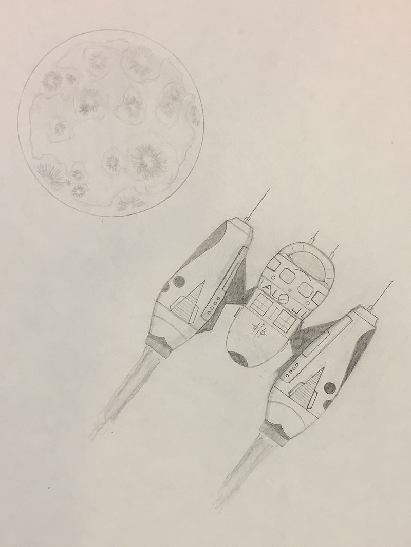 Space Ship and Planet